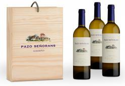 Pazo Señorans 2019, 0,75 litres, 3 bottles wood case